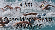 Open Water Swim 4 Kms  24 May 2015