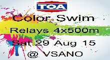 TOA Color Swim Relays  29 Aug 15  (register as a team, 4 person)