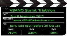 VSANO Sprint Triathlon 8 Nov 15 (solo) Full