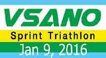 VSANO Sprint Triathlon 9 Jan 16